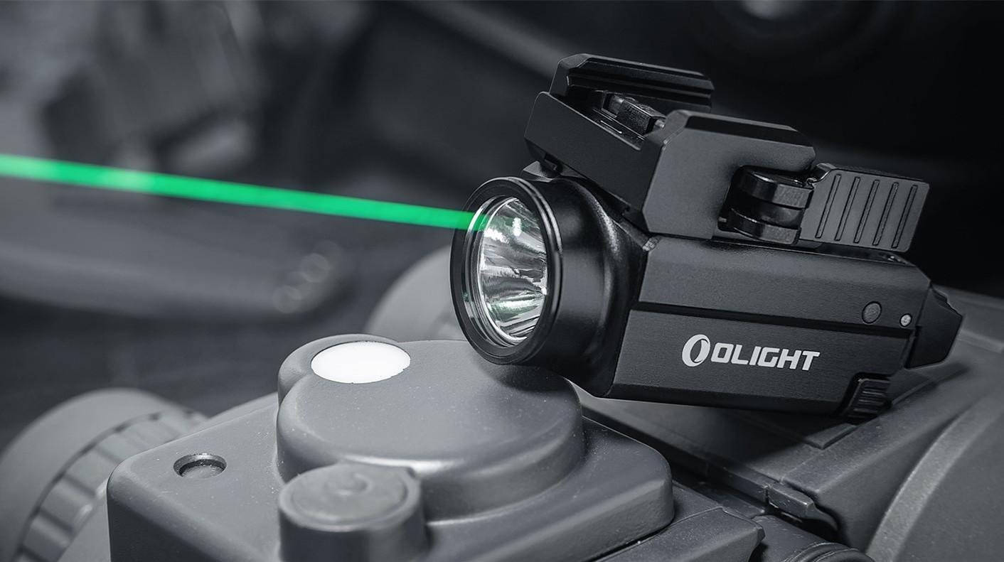 Baldr S, la mejor linterna potente para pistola con láser verde