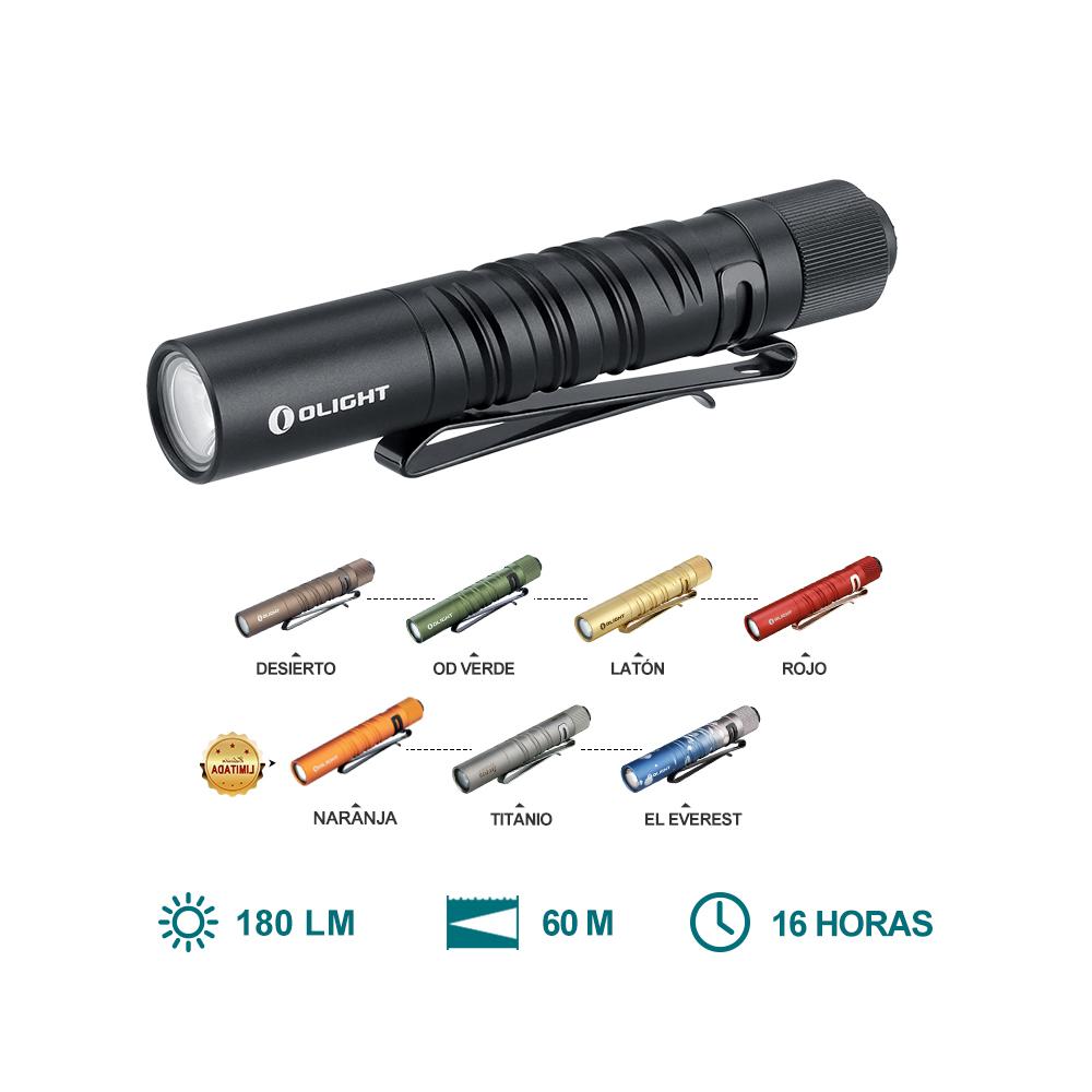 Olight i3T EOS (180 Lúmenes Mini Linterna EDC)