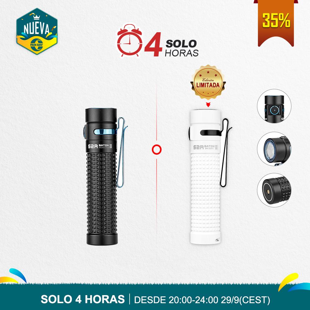 Olight S2R Baton II (1150 Lúmenes Luz EDC Portátil Potente)