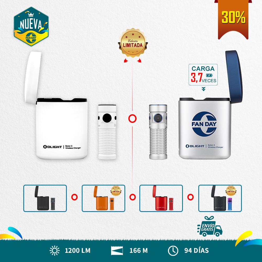 Olight Baton 3 Edición Premium (1200 Lúmenes Linterna EDC)